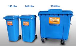 Die Wahl eines Kunststoff- oder eines Stahlcontainers ist abhängig vom zukünftig gelagerten Abfall oder Material.